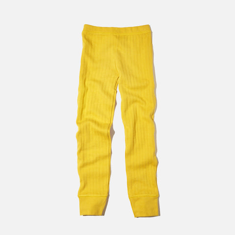 Organic Girl's Drop Needle Pant - Mustard yellow - 5-7y