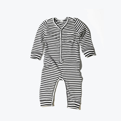 Organic Union Suit - Striped - 18m-3y
