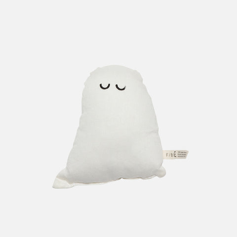 100% Organic Cotton Sleepy Ghost Rattle