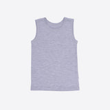 Merino Sleeveless Vest/Undershirt - Grey - 1-12y
