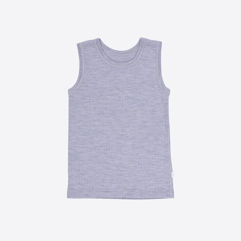 Merino Wool Sleeveless Vest/Undershirt - Grey