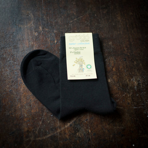 Adult's Organic Cotton Socks - Black