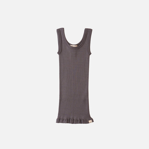 Adult Silk/Cotton Rib Tank Top - Dark Grey
