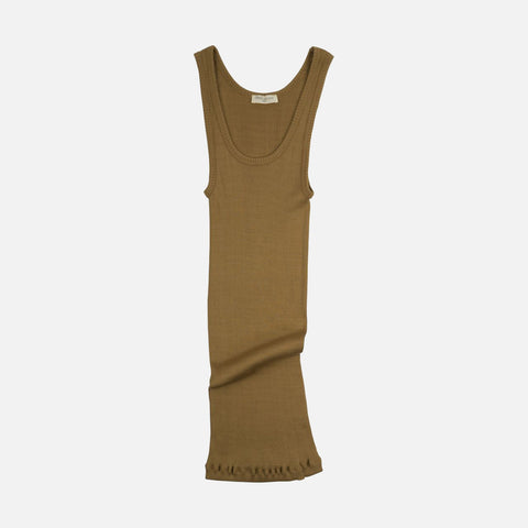 Adult Silk/Cotton Rib Tank Top - Golden Leaf