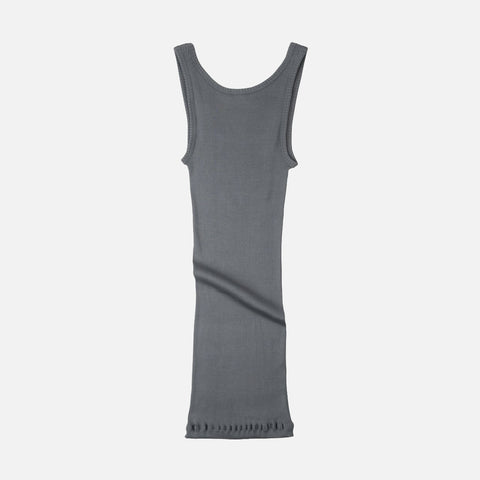 Adult Silk/Cotton Rib Tank Top - Stone