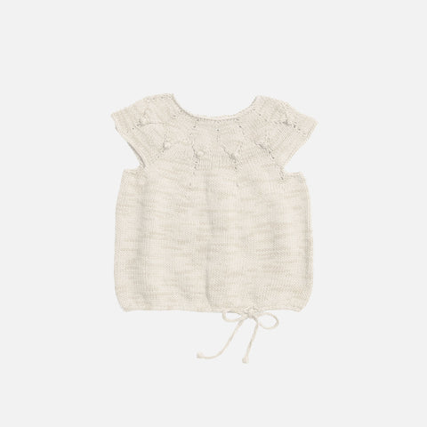 Hand Knit High Tide Top - Natural - 12m-6y