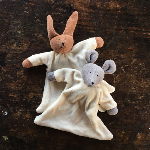 Organic Cotton/Wool Soft Rabbit Or Mouse Comforter