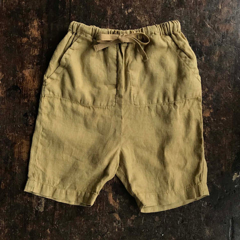 Exclusive Linen River Shorts - Light Oak