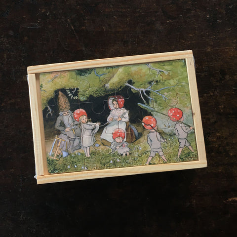 4 Wooden Puzzles - Elsa Beskow's Children of the Forest