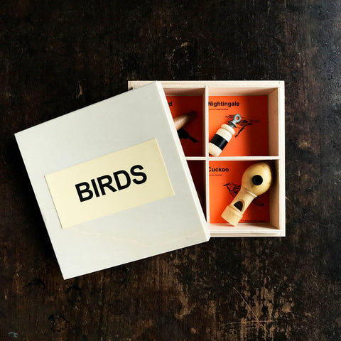 Handmade Wood Bird Callers - Set of 4