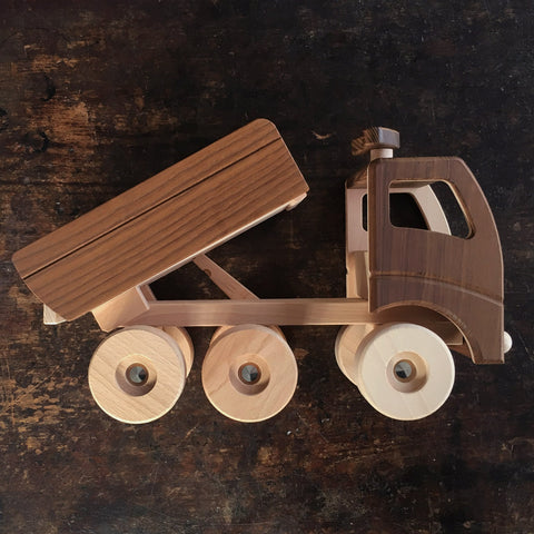 Natural Large Wood Dump Truck