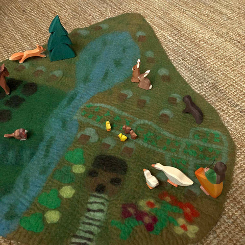Felted Wool Farm Play Mat