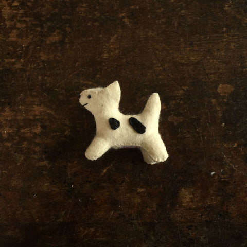 Handmade Wool Felt Dog