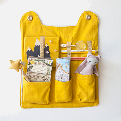Organic Cotton Wall Pocket - Yellow