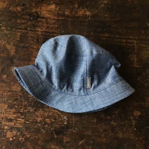 Organic Cotton Sun Hat - Denim Chambray - 3-12y