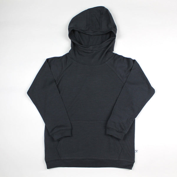 Merino Jersey Hooded Top - Slate - 4-10y