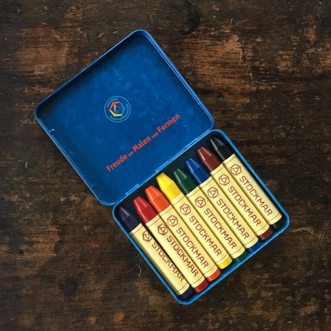 Wax Crayons in Tin