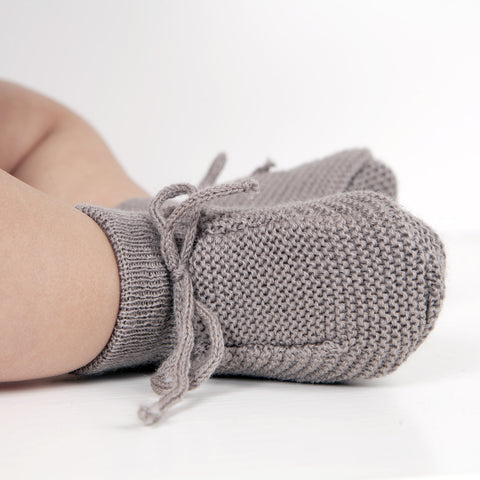 Organic Fine Knitted Merino Booties - Many Colours - 0m-8m