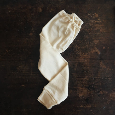 100% Organic Merino Wool Long Johns - Natural