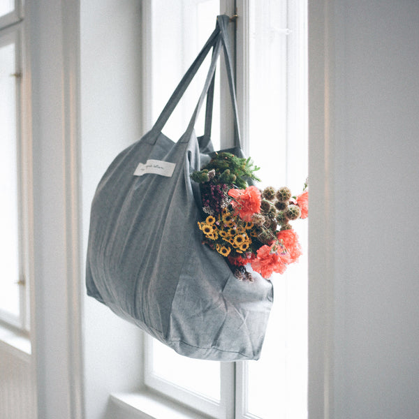 Organic Cotton Very Large Shopping Bag - Sea Shell Storm