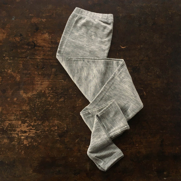 Organic Silk & Merino Wool Women's Leggings - Grey