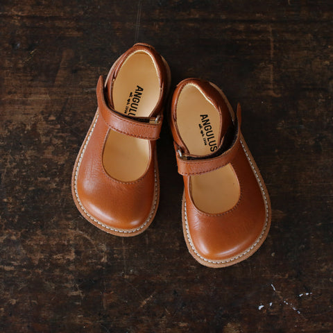 Mary Jane Shoe - Cognac