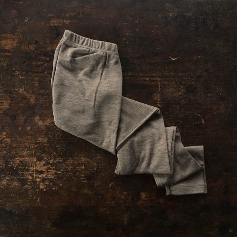 Organic Silk & Merino Wool Ladies Leggings - Walnut