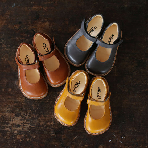Mary Jane Shoe - Mustard - 23(UK 6) - 32 (UK 13)
