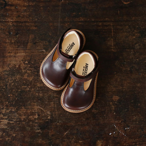 T-Bar Shoes - Brown - 20-25
