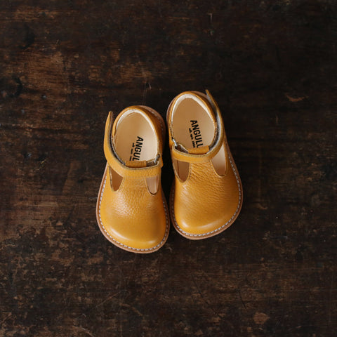 T-Bar Shoes - Mustard - 20 (UK 4) -25 (UK 8)