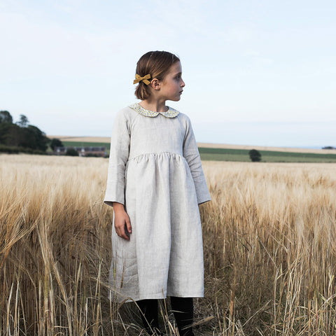 Sadie Dress - Natural/Liberty of London - 6-7y