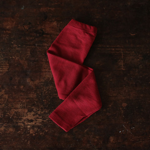 100% Merino Wool Leggings - Red Melange