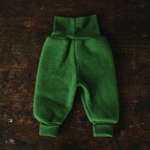 Organic Merino Wool Fleece Pants - Grass - 0m-2y