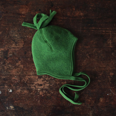 Organic Merino Wool Fleece Hat - Grass