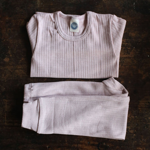 Organic Merino Wool / Cotton / Silk Top - Pale Pink