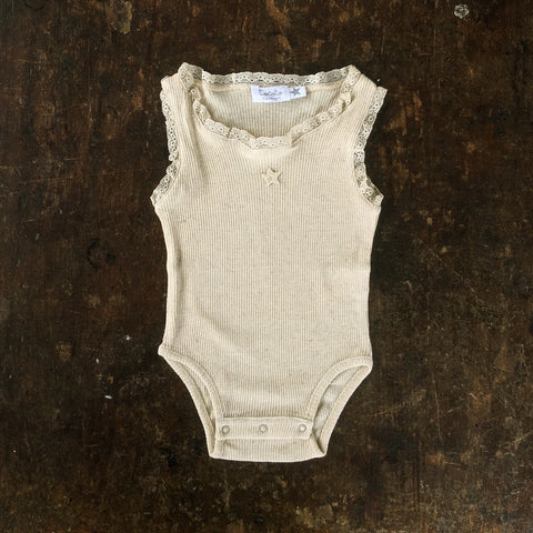 Cotton Ribbed Body - Light Tan - 3m-2y