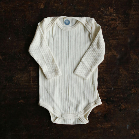 Organic Merino Wool, Cotton & Silk Body - Ecru - 0-4y