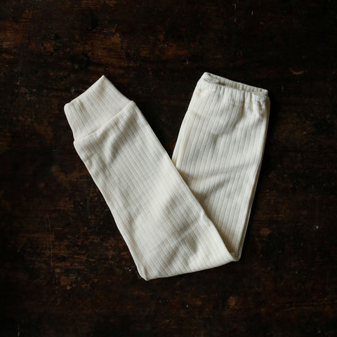 Organic Merino Wool / Cotton / Silk Pants - Natural