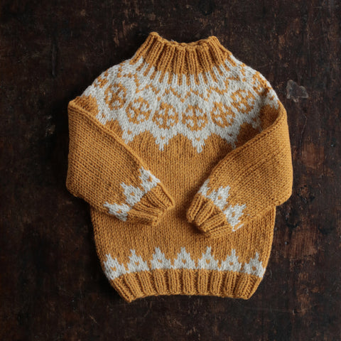 Palle wool/alpaca sweater - Ocher - 2-10y