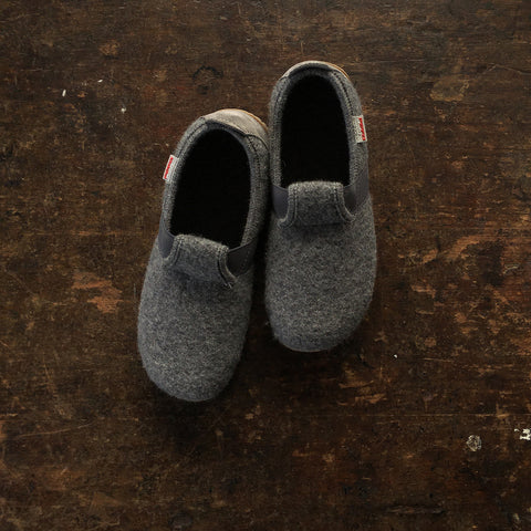 Adult Boiled Elastic Wool Slippers - Light Grey - 37-40