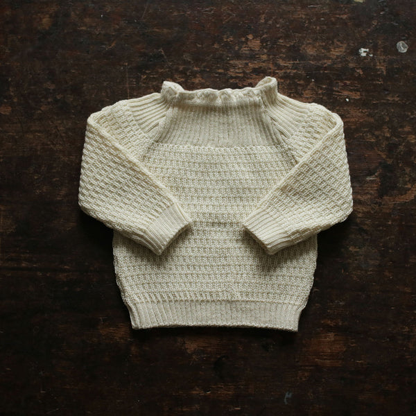 Selana Organic Merino Sweater - Natural - 0m-2y