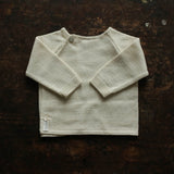 Bourette Silk Side Close Top/Sweater - Natural