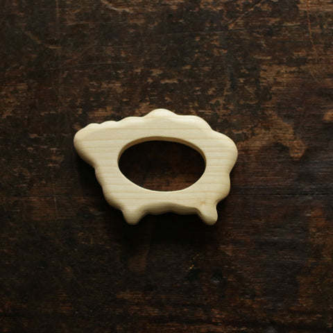 Natural Wood Sheep Grasper & Teether