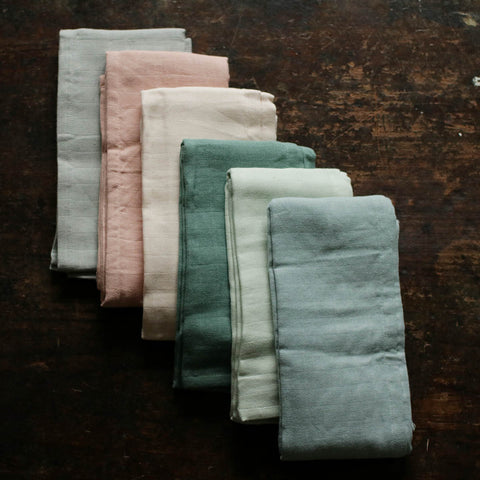 Organic Cotton Muslins - 6 colours