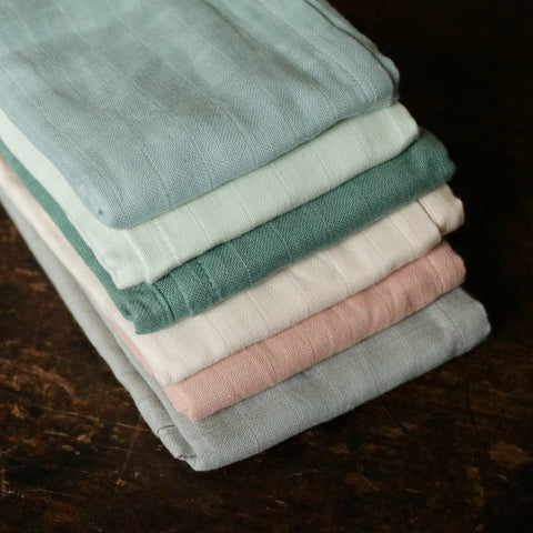 Organic Cotton Muslins - 2 Pack - Many Colours