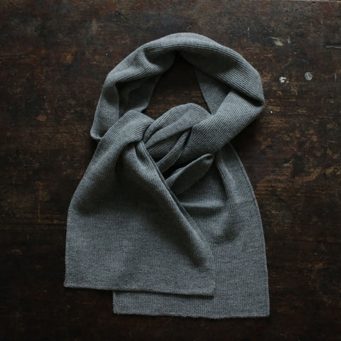 Adult Alpaca Scarf - Light Grey