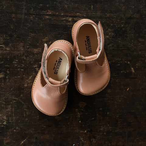 T-Bar Shoes - Nude Pink - 20(UK 4) - 25(UK 8.5)