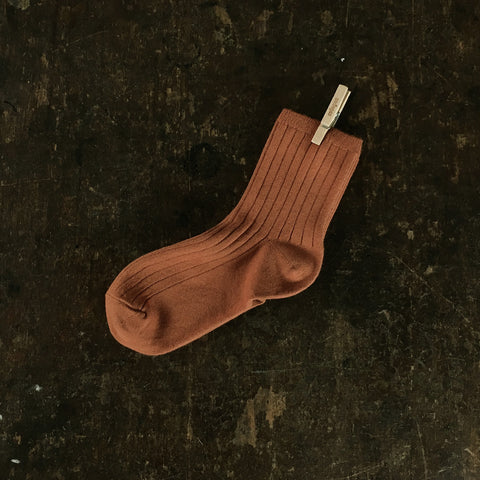 Adult Cotton Short Socks - Cinnamon - EU36-41/UK3.5-7.5