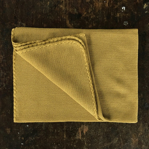 Organic Knitted Merino Baby Blanket / Swaddle - Gold