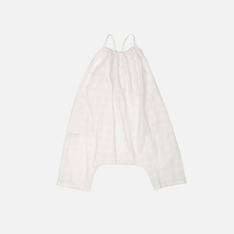 Cotton Plaid Ines Romper - White-Out - 12m-7y
